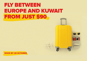 FLY BETWEEN EUROPE AND KUWAIT FROM JUST $90