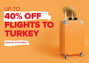 Up To 40% Off Flights To Turkey