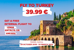 Fly From Balkans And Ukraine To Turkey From 39.99 Euro