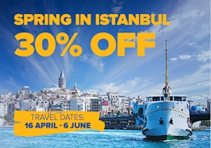 30% Off To Istanbul On Selected Routes