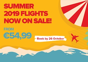 Summer 2019 Flights Now On Sale