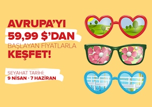 Avrupa'yı 59,99 $'dan Başlayan Fiyatlarla Keşfet!