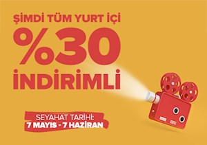 Tüm Yurt İçi %30 İndirimli