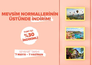 Yurt İçinde Mevsim Normallerinin Üstünde İndirim!