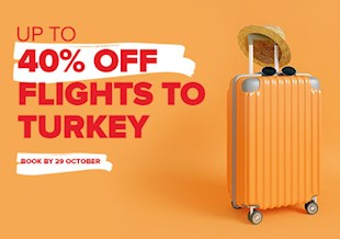 Up To 40% Off Flights To Turkey