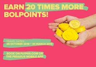 Earn 20 Times More BolPoints