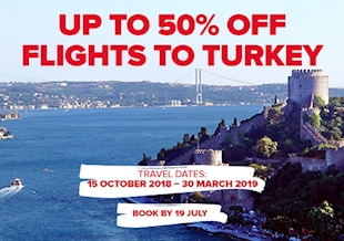 Up to 50% Off Flights to Turkey