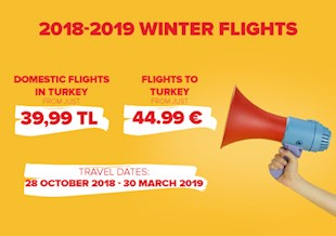 2018 - 2019 Winter Flights Are Now On Sale