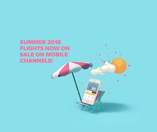 Summer 2018 Flights Now on Sale only via Mobile