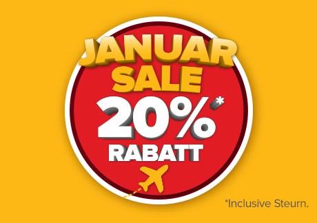 Januar-Sale - 20% Rabatt