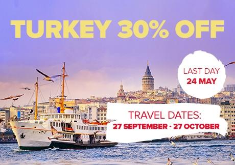 30% Off To Turkey