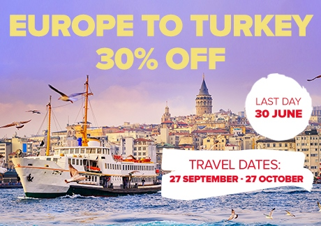 Selected Routes To Turkey 30% Off