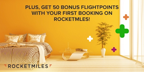 Plus, Get 50 Bonus FlightPoints with your first booking on Rocketmiles!