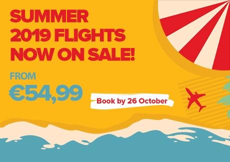 Summer 2019 Flights Now On Sale