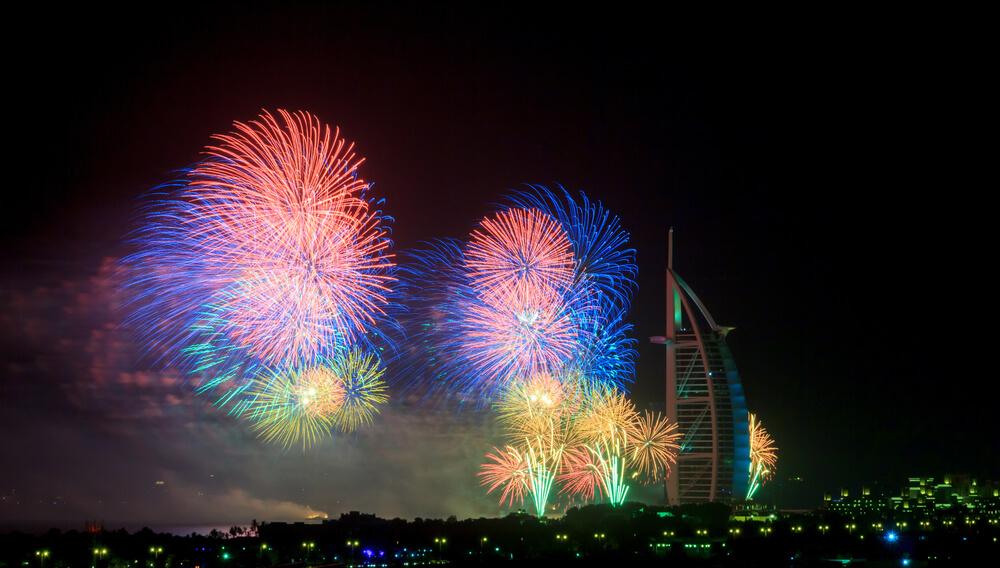 Dubai'de yılbaşı kutlamaları