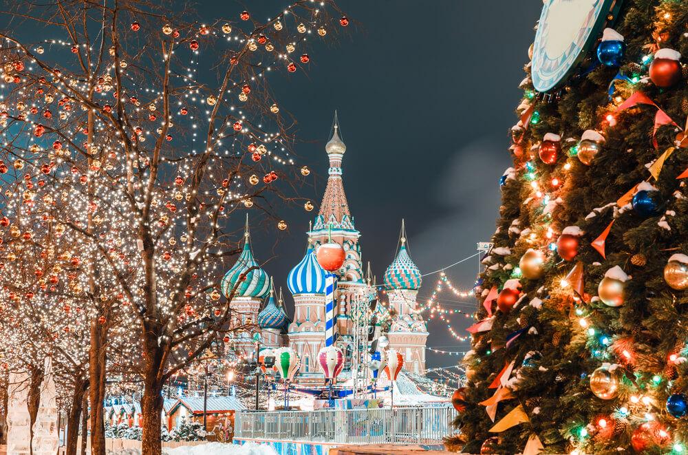 Moskova'da yılbaşı kutlamaları