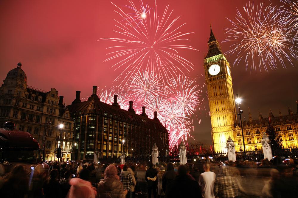 Londra'da yılbaşı kutlamaları