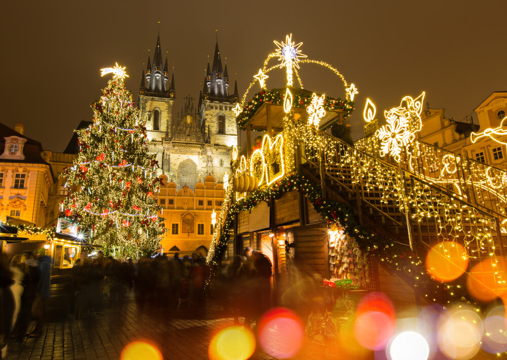 Prag'da yılbaşı kutlamaları