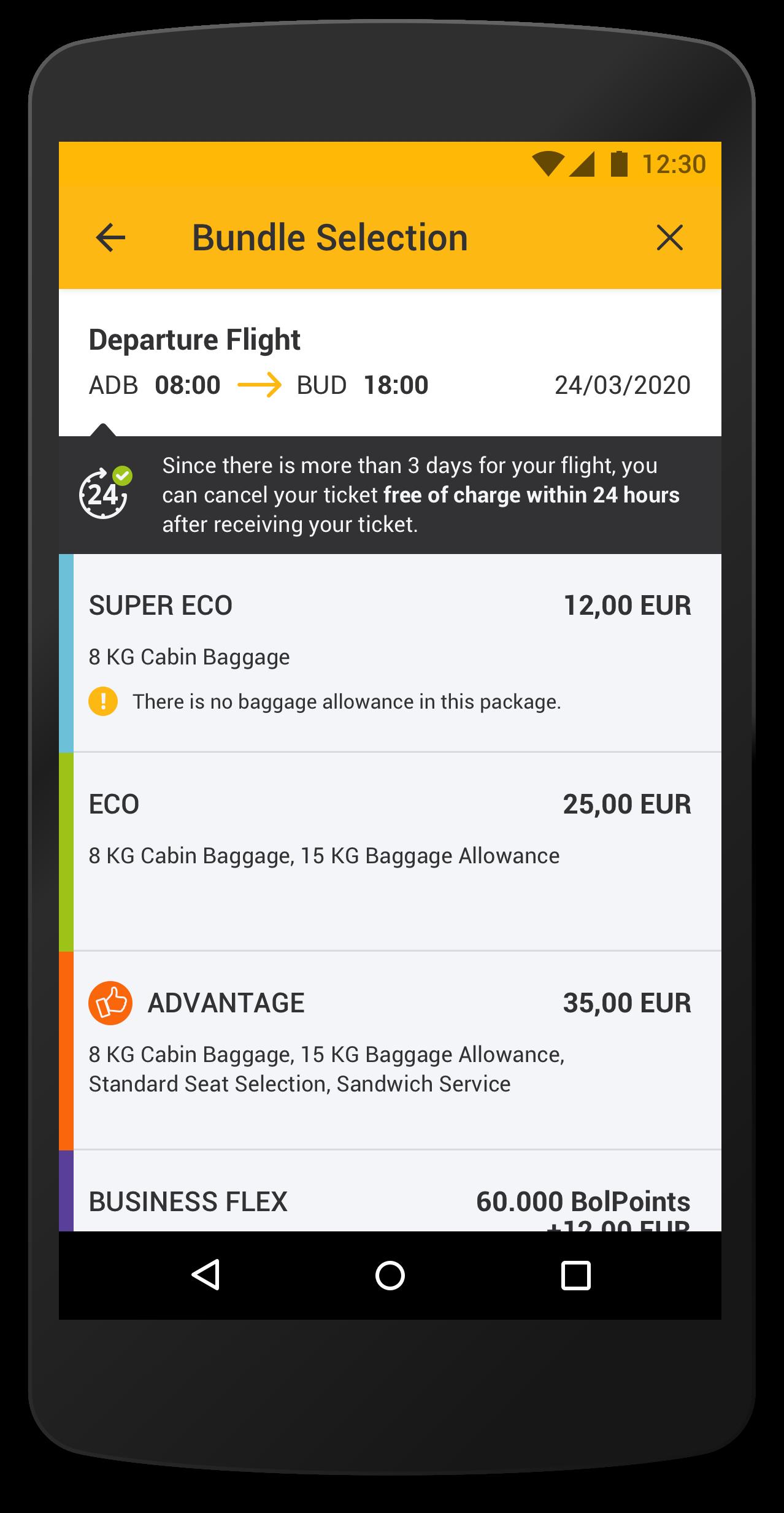 flights mobile app pegasus airline