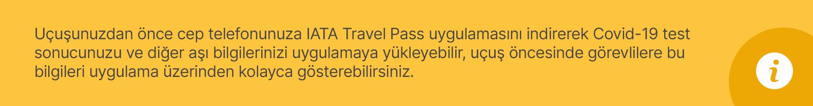 iata travel pass uygulaması hakkında