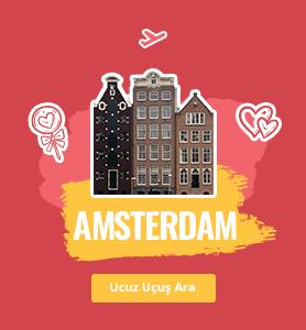 Amsterdam uçak bileti
