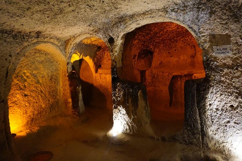 Kapadokya Derinkuyu yeraltı şehri